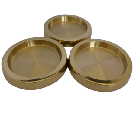 Castor Cups Brass Large  - set of 3